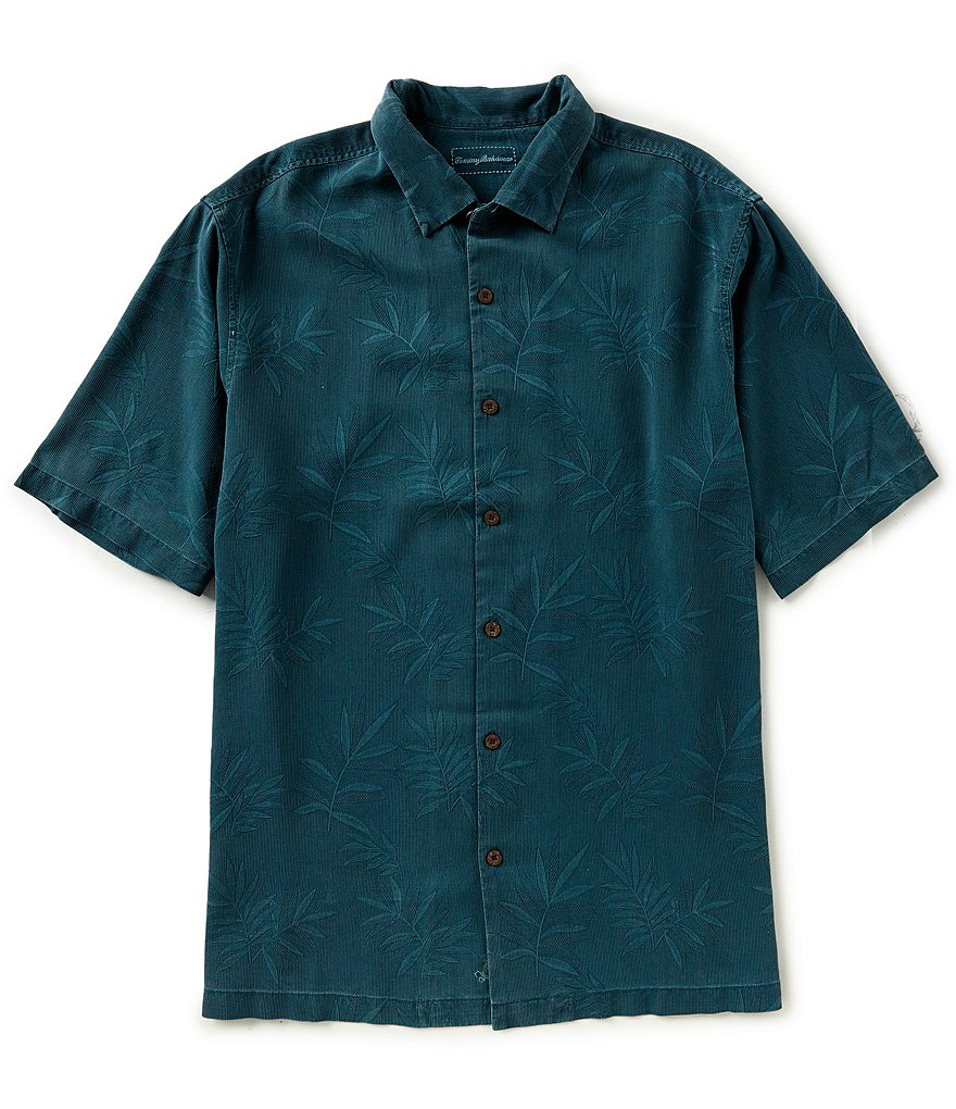 Tommy Bahama Big & Tall Luau Floral Silk Short-Sleeve Woven Shirt