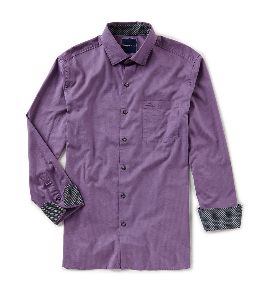 Tommy Bahama Capeside Herringbone Long-Sleeve Woven Shirt