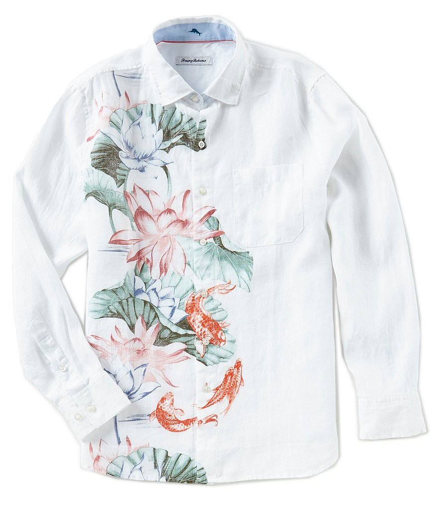 Tommy Bahama Koi West Linen Long-Sleeve Woven Shirt