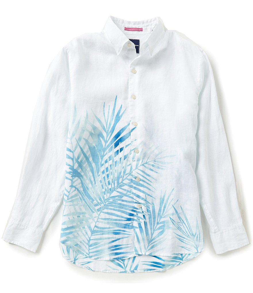 Tommy Bahama Long-Sleeve Fo´ Rio Floral Fronds Woven Shirt