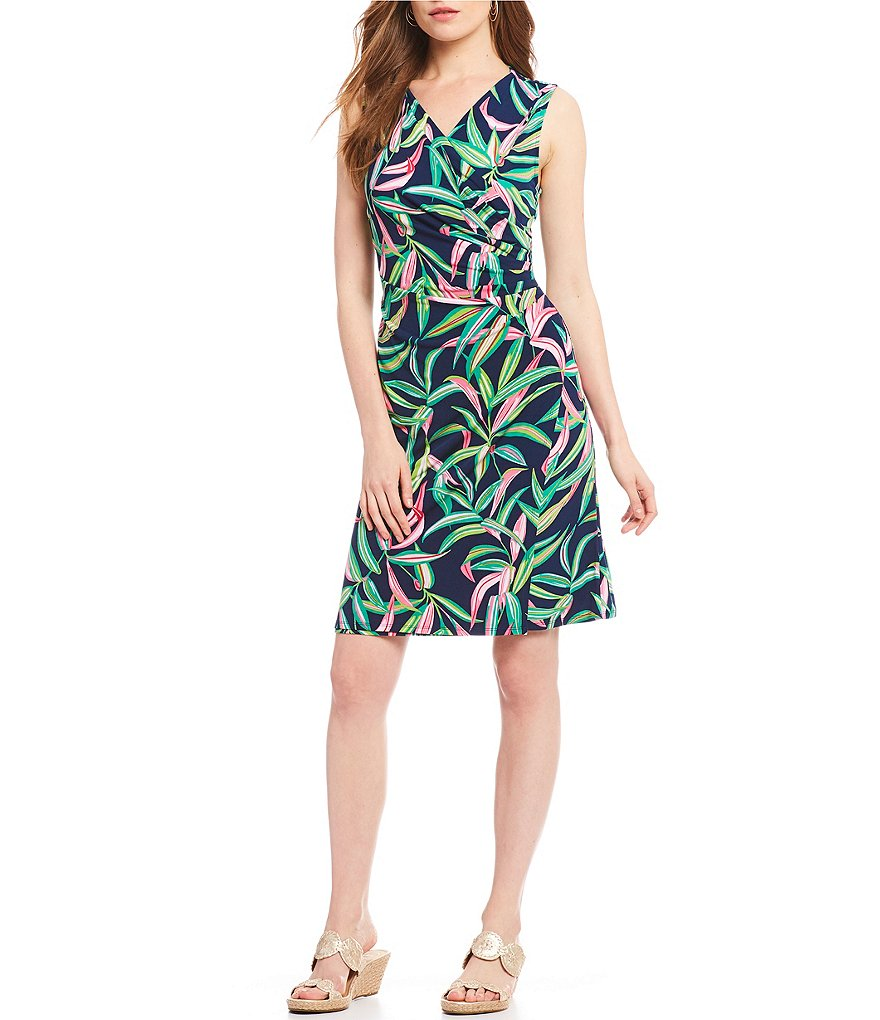 Tommy Bahama Lucky Bamboo Sleeveless Wrap Dress