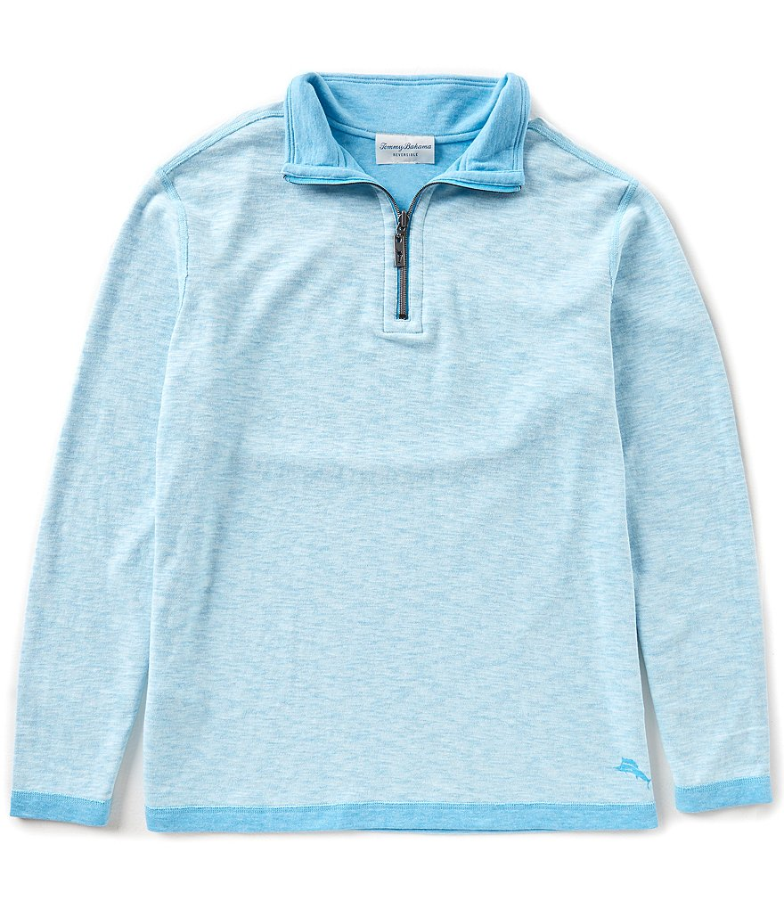 Tommy Bahama Sea Glass Reversible Half-Zip Pullover