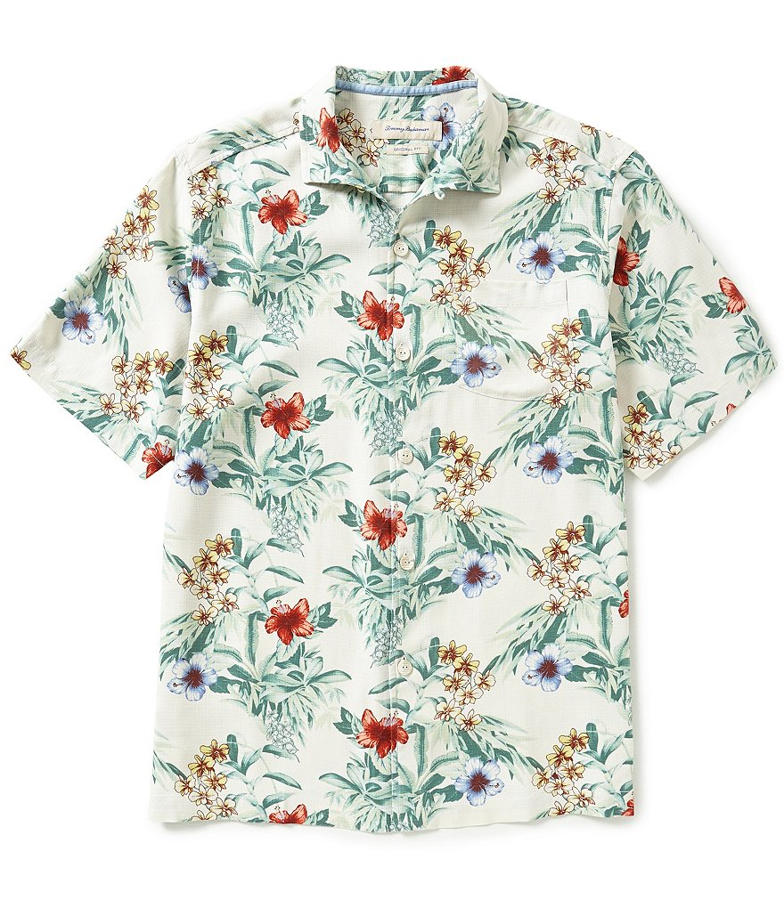 Tommy Bahama Short-Sleeve Breakaway Blooms Silk Woven Shirt