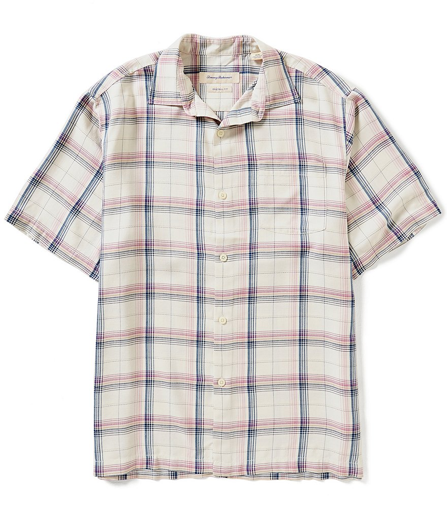 Tommy Bahama Short-Sleeve Pintinga Plaid Woven Shirt