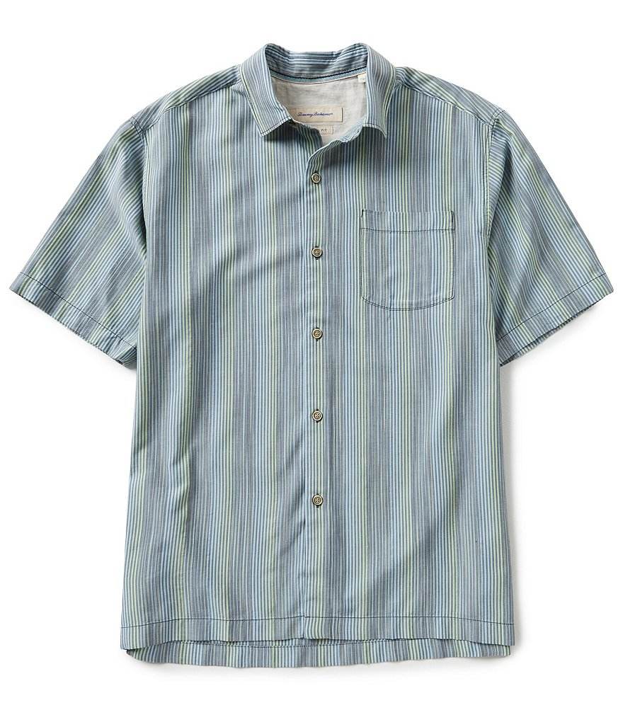Tommy Bahama Short-Sleeve Seine Chaser Stripe Woven Shirt