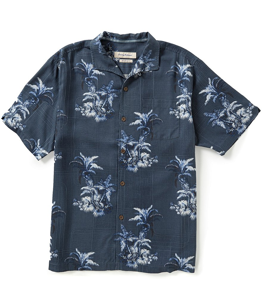 Tommy Bahama Short-Sleeve Where The Palm Frond Grows Tropical Print Woven Shirt
