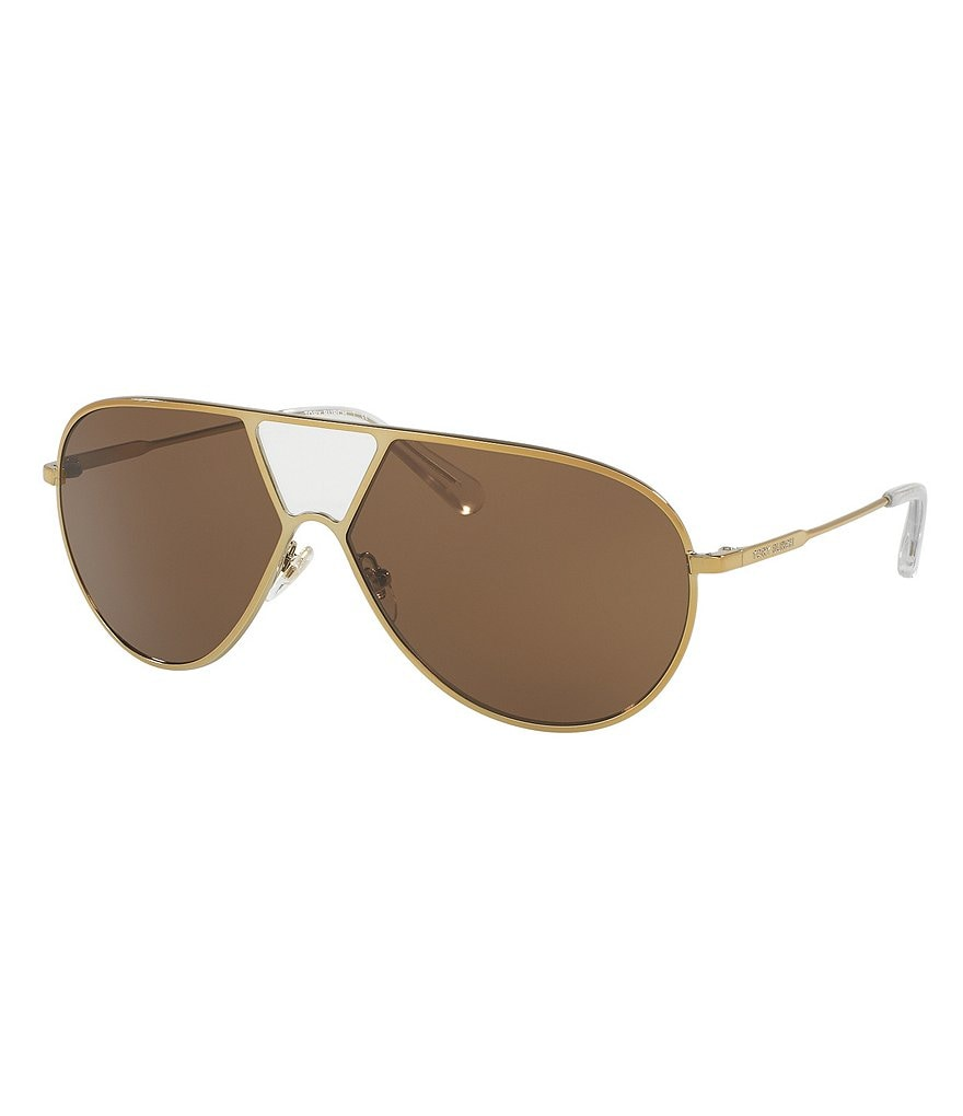 Tory Burch Full-Bridge Shield Sunglasses