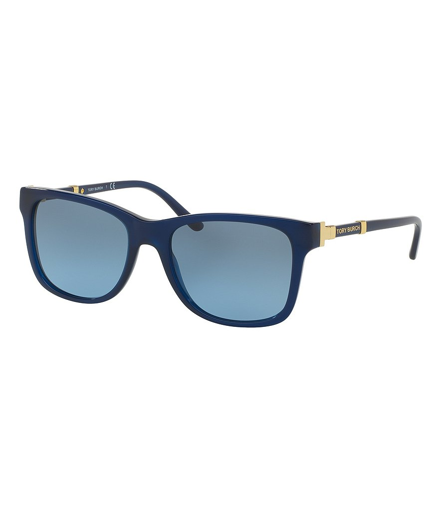Tory Burch Gradient Classic Rectangle Sunglasses