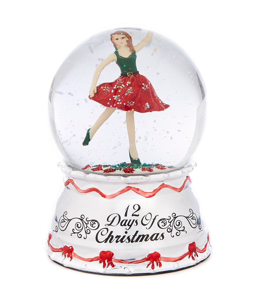 Towle Silversmiths 12 Days of Christmas Nine Ladies Dancing Snow Globe