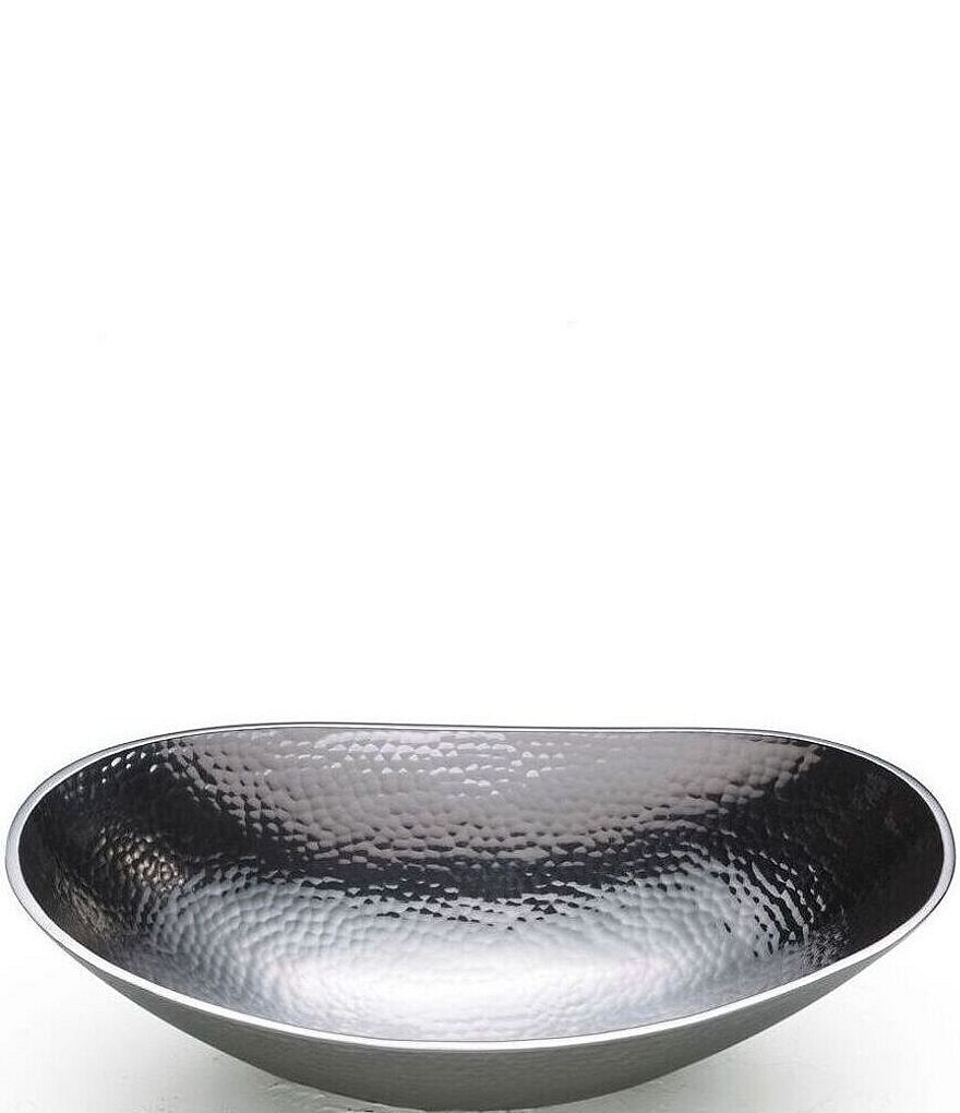 Towle Silversmiths Hammered Oval Bowl