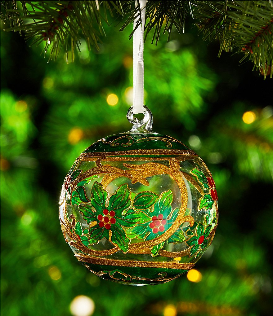 Trimsetter Cloisonne Collection Red Berries Ball Ornament