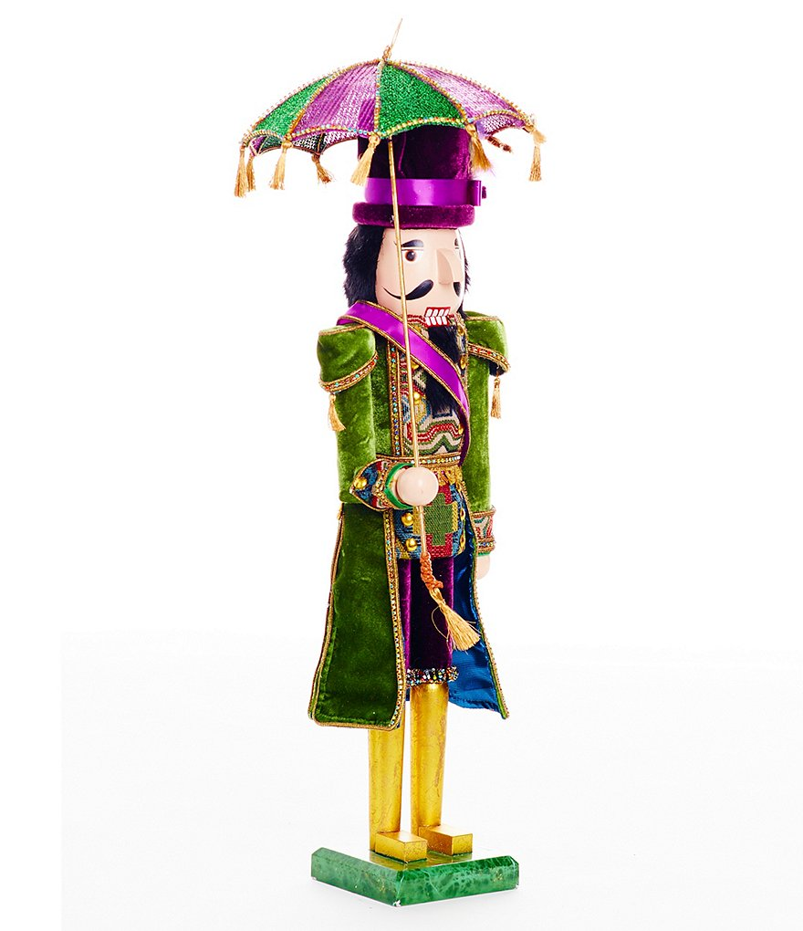 Trimsetter Crescent City Collection Nutcracker Figurine with Tasseled Umbrella