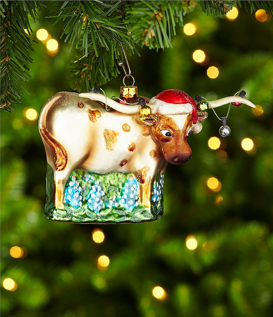 Trimsetter Longhorn with Lights Ornament