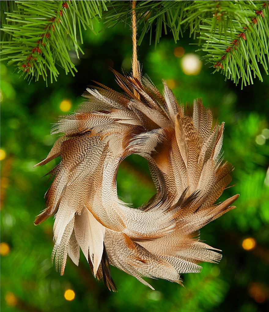 Trimsetter The Lodge Collection Feather Wreath Ornament