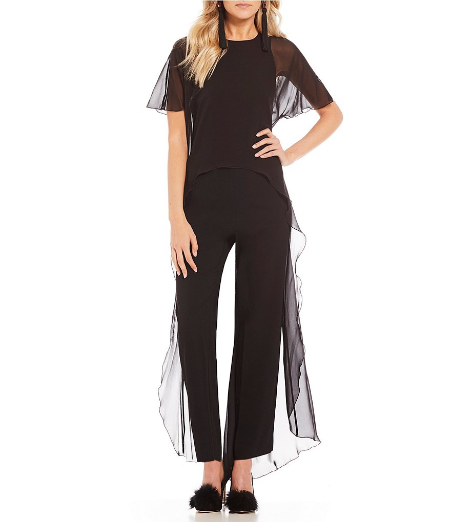 Trina Turk Capote Short Sleeve Cape Jumpsuit