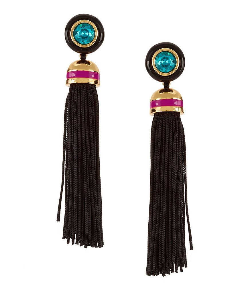 Trina Turk Destination Groove Tassel Statement Earrings