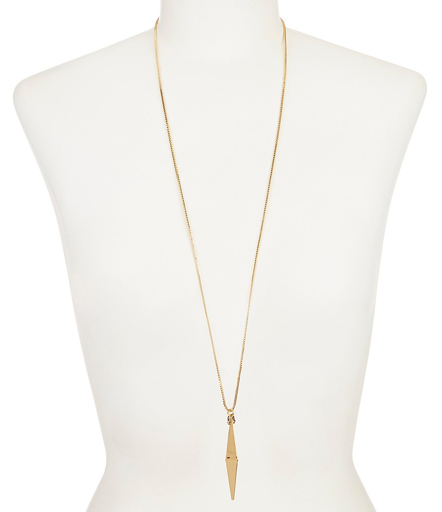 Trina Turk Elongated Triangle Pendant Necklace