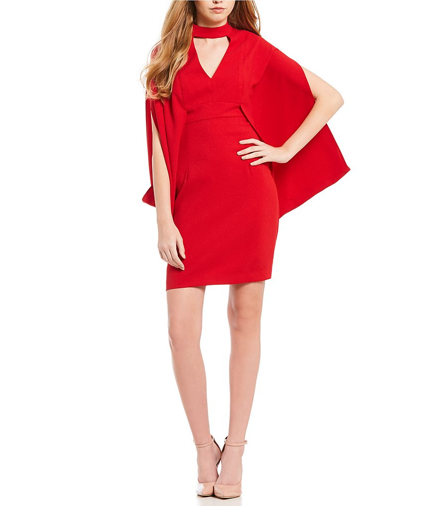 Trina Turk Inferno Mock Neck Kimono Sleeve Dress