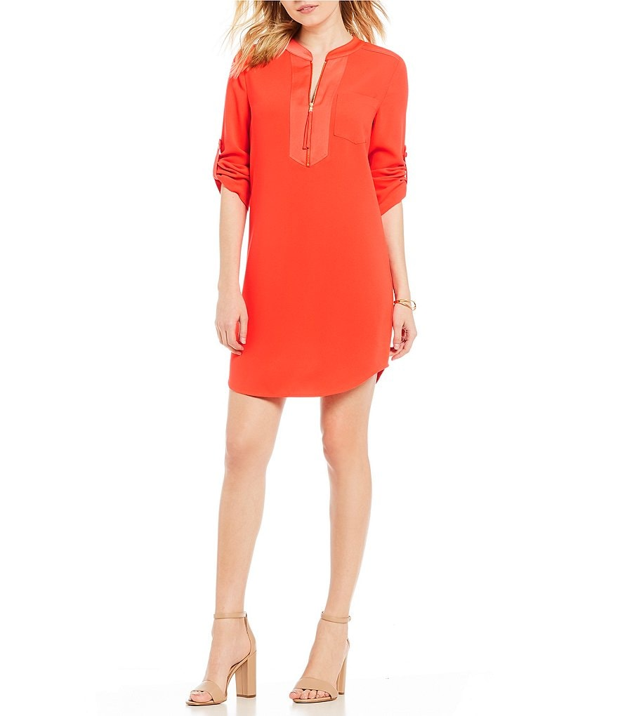 Trina Turk Kaiko Straight Shirt Dress