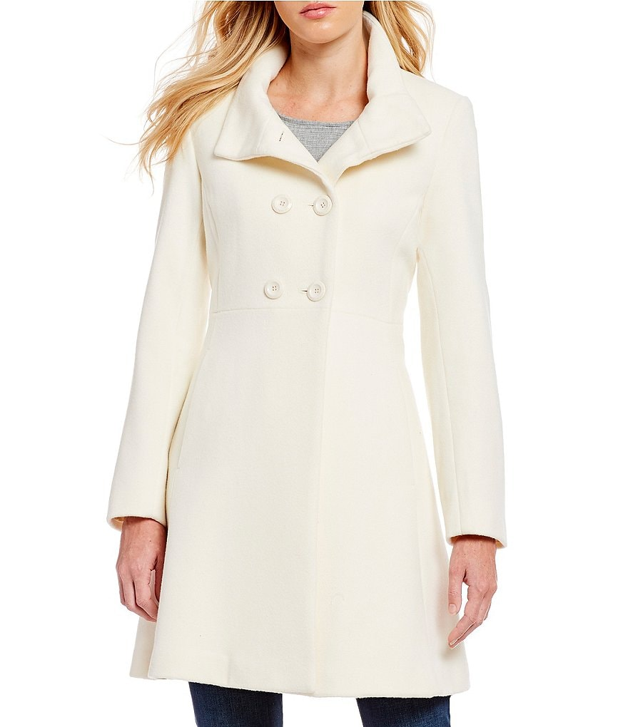 Trina Turk Kate Double Breast Fit and Flare Coat