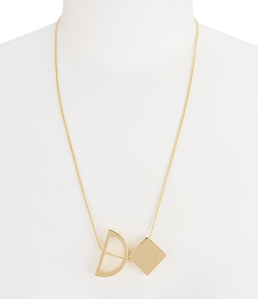 Trina Turk Mod Moments Geometric Pendant Necklace