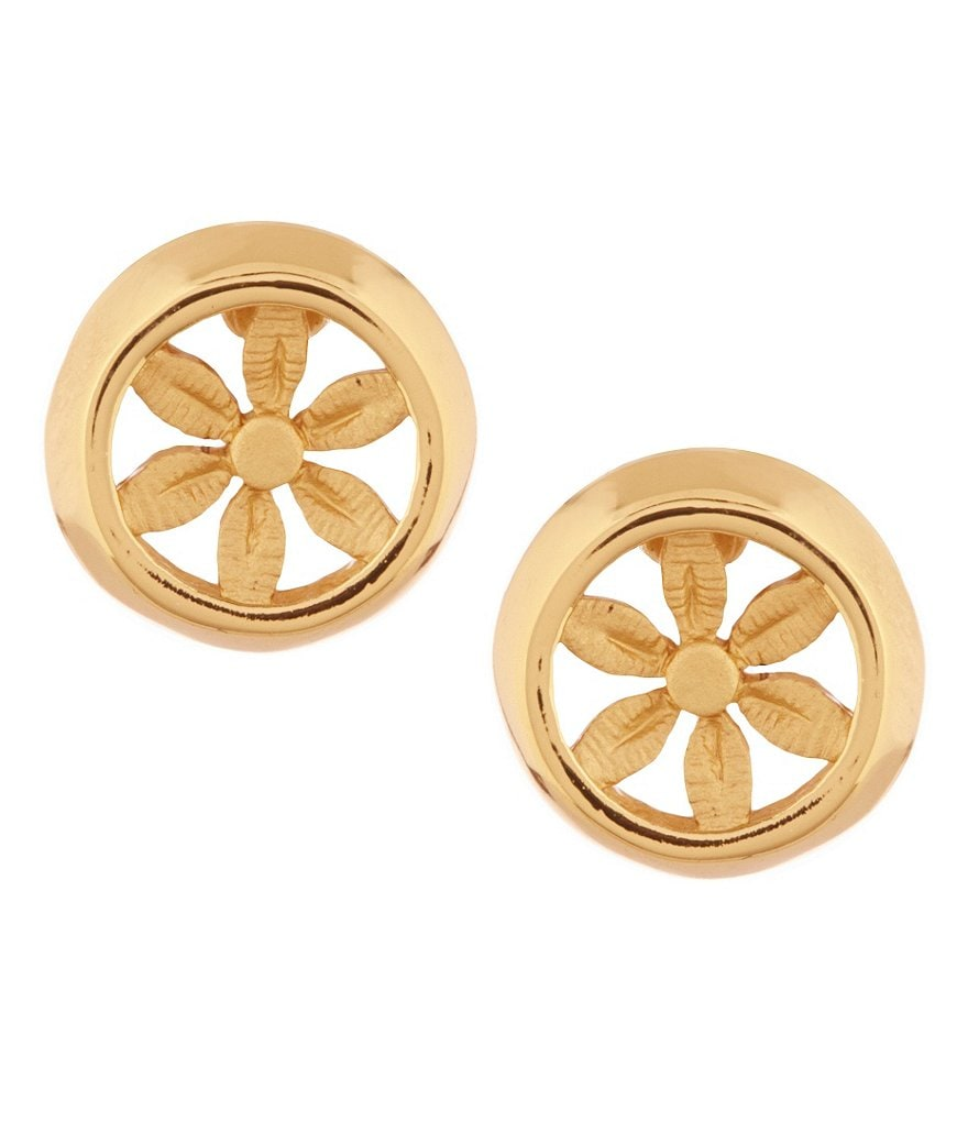 Trina Turk Openwork Flower Stud Earrings