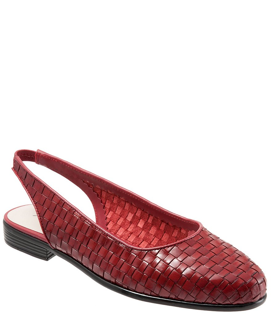 Trotters Lucy Woven Leather Slingback