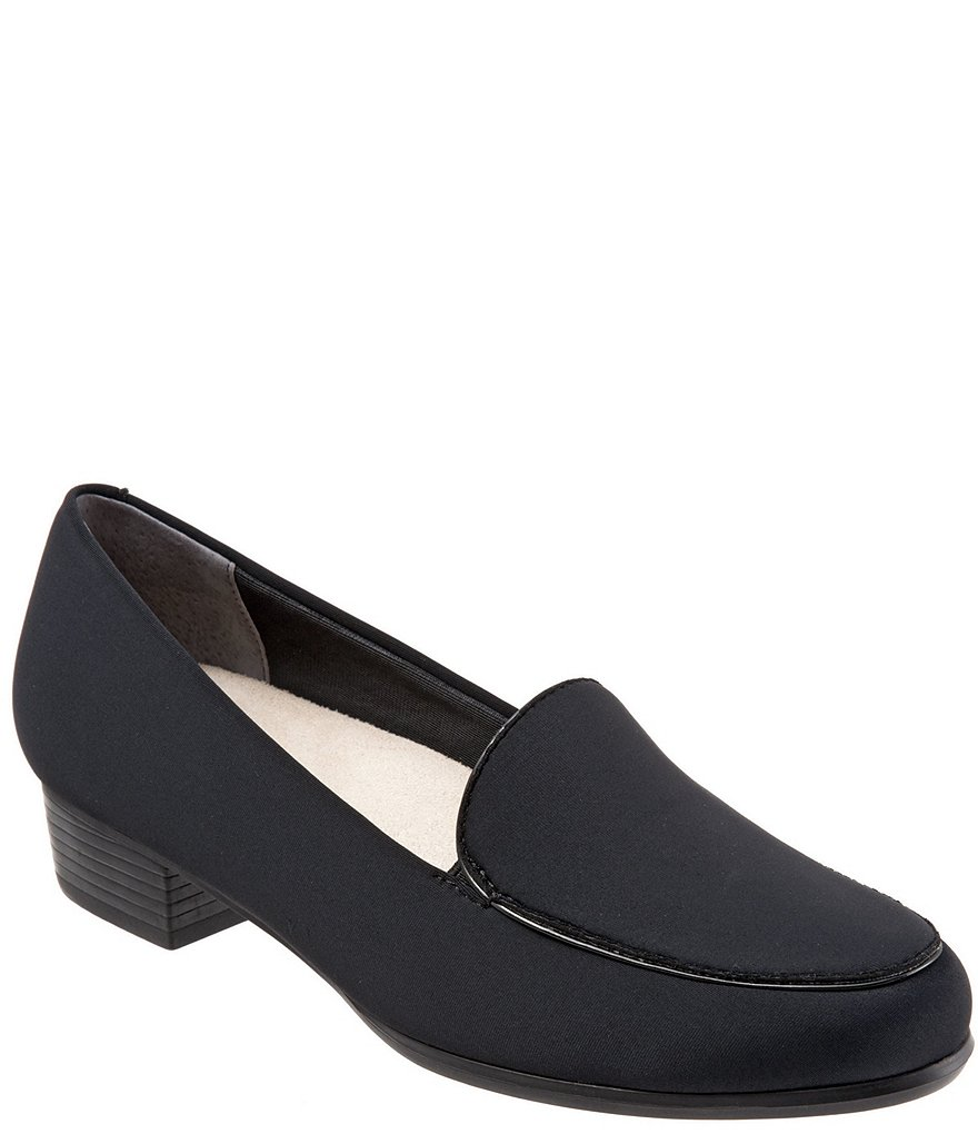 Trotters Monarch Mircofiber Block Heel Loafers