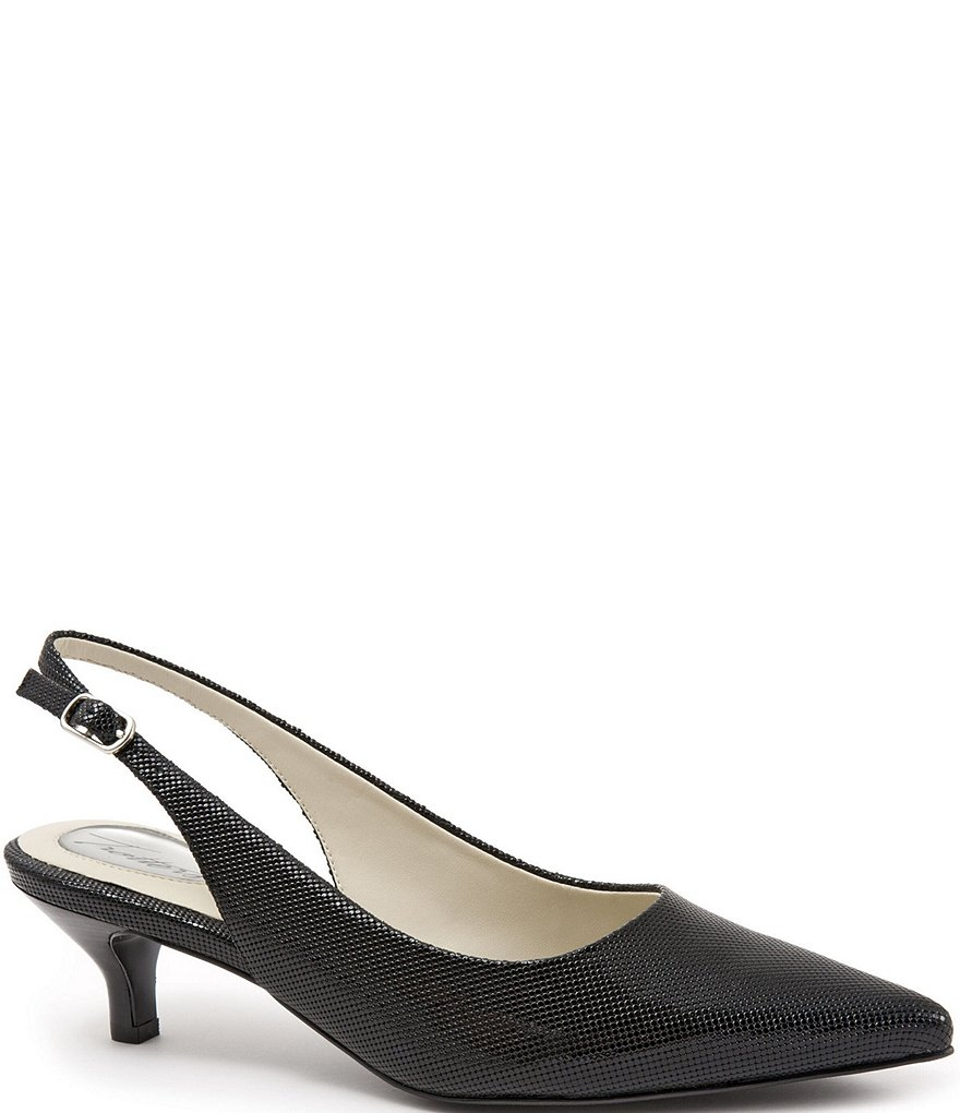 Prima Embossed Patent Leather Slingback Pumps I94lPoexq
