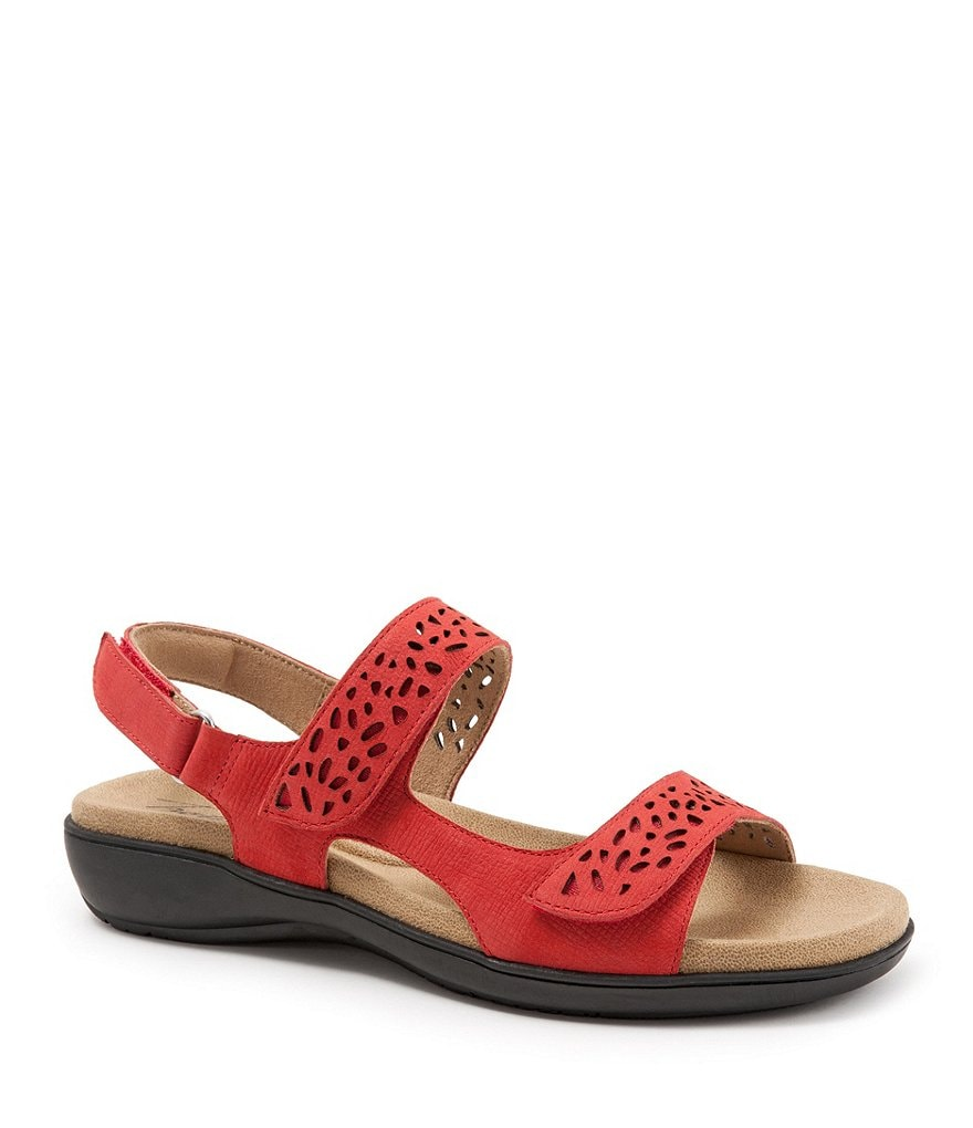Trotters Tamara Embossed Leather Sandals