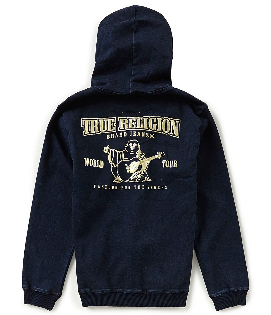True Religion Big Boys 8-20 French Terry Buddha Hoodie