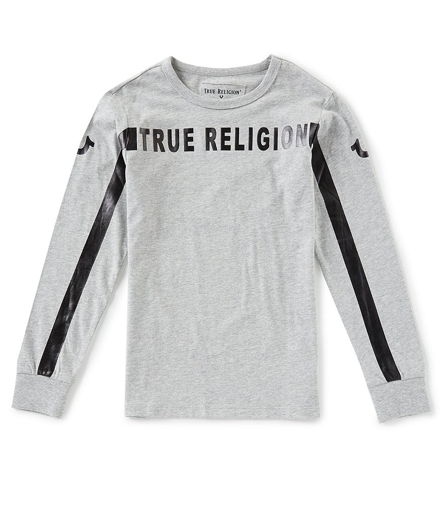 True Religion Big Boys 8-20 Long Sleeve Foil Tee