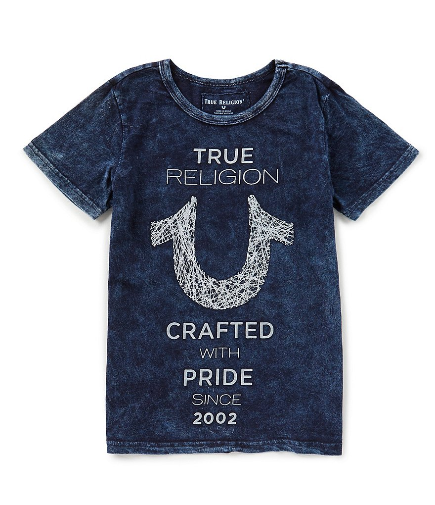 True Religion Big Boys 8-20 Short-Sleeve Shoestring Horseshoe Tee