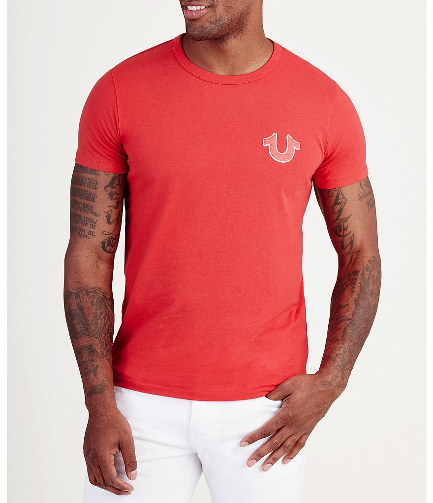 True Religion Double Puff Crew Neck Short-Sleeve Graphic Tee