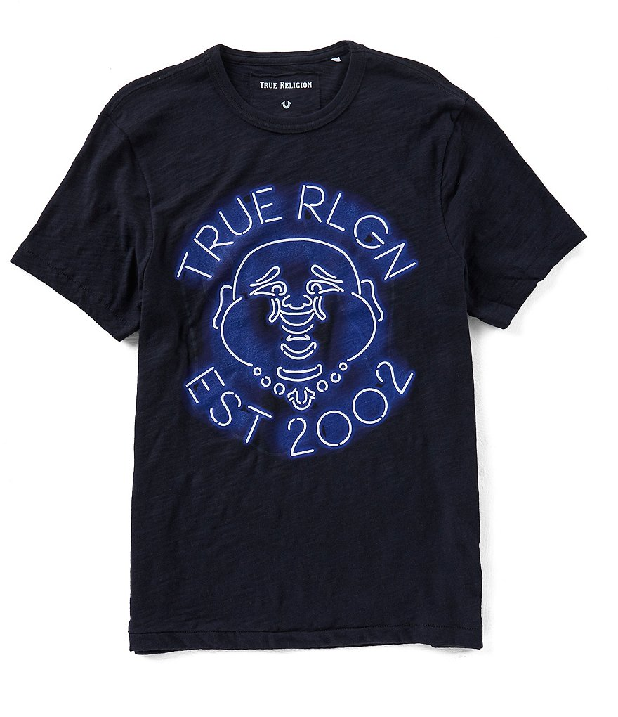 True Religion Neon Buddha Short-Sleeve T-shirt