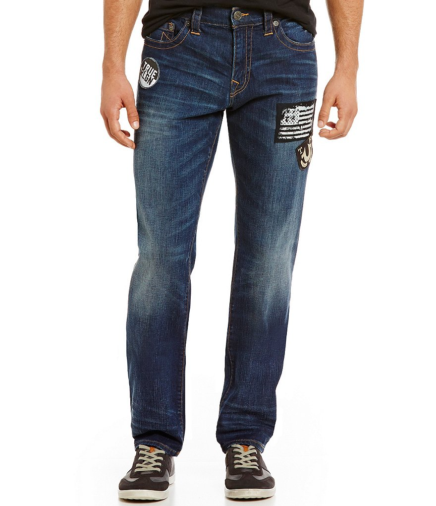 True Religion Patched Geno Slim-Straight Jeans