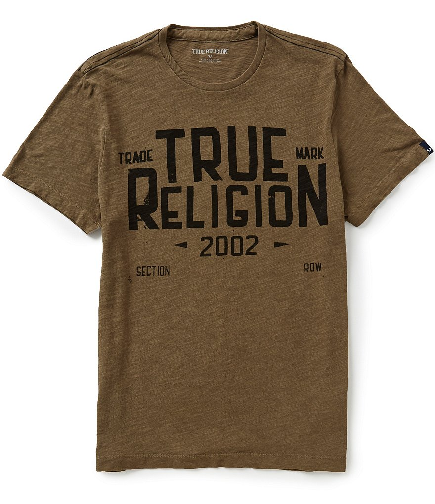 True Religion Short-Sleeve Crewneck Logo Graphic Tee