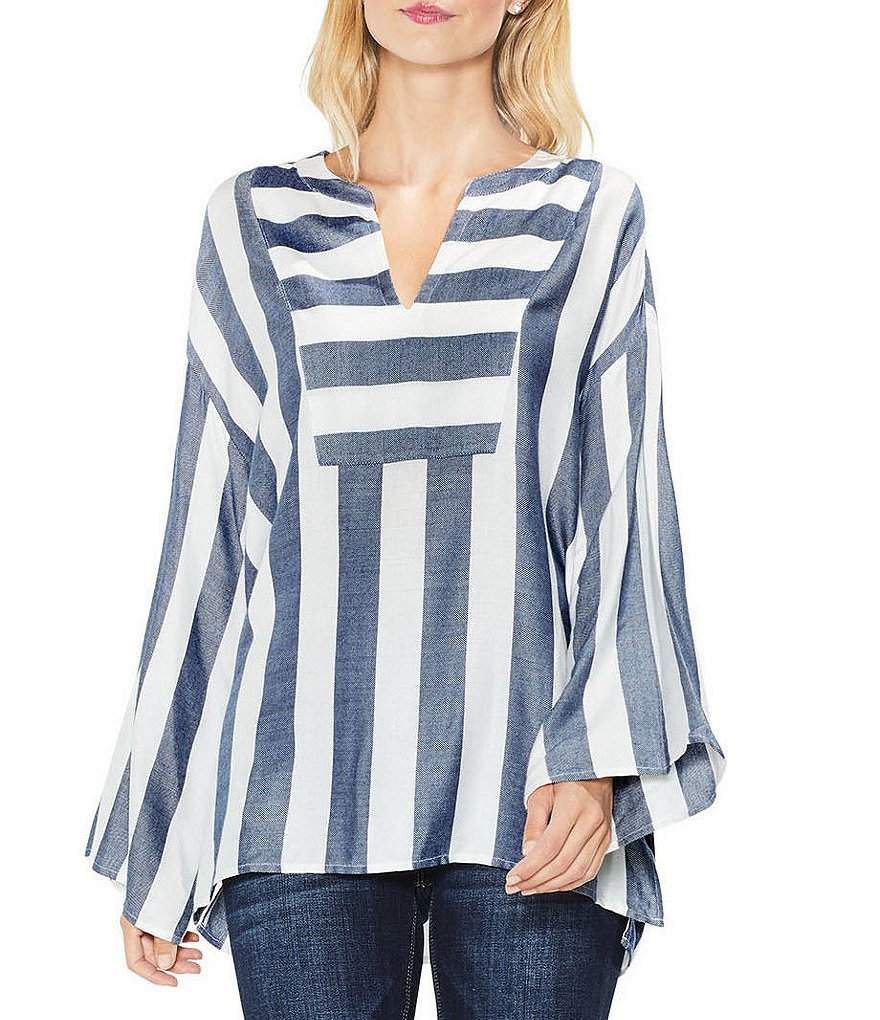 Two By Vince Camuto Bell Sleeve Striped Top