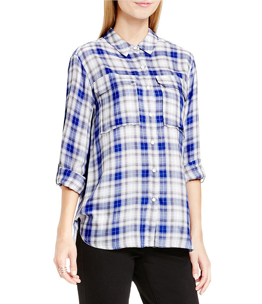 Two By Vince Camuto Canyon Plaid Relaxed Utility Shirt