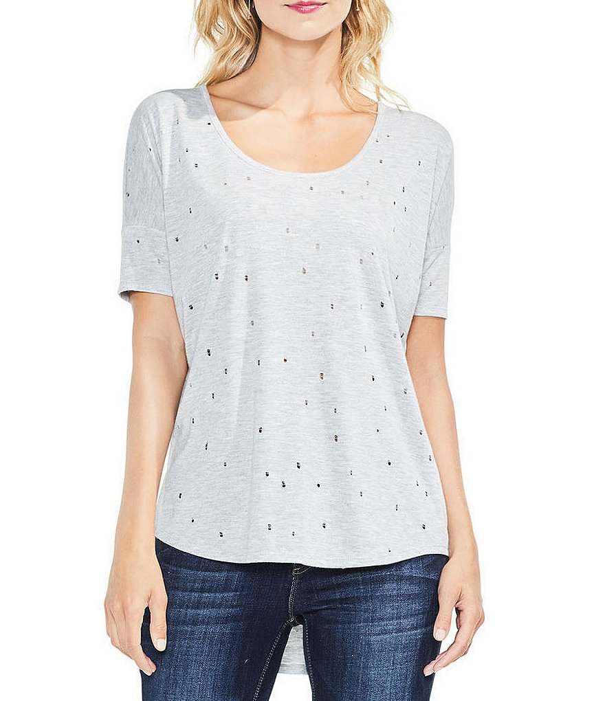 Two By Vince Camuto Distressed Tee