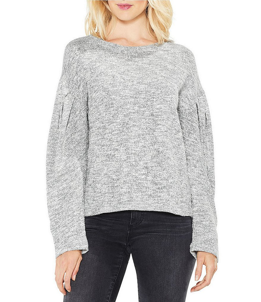 Two By Vince Camuto Drop Shoulder Metallic Knit Top