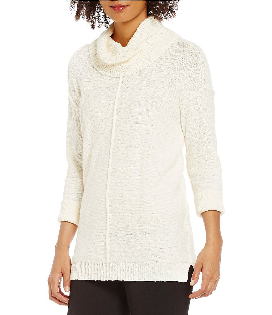 Two By Vince Camuto Exposed Seam Cowlneck Sweater