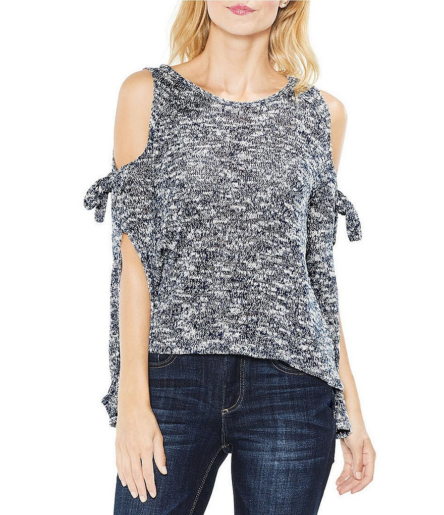 Two By Vince Camuto Long Split Tie-Sleeve Top