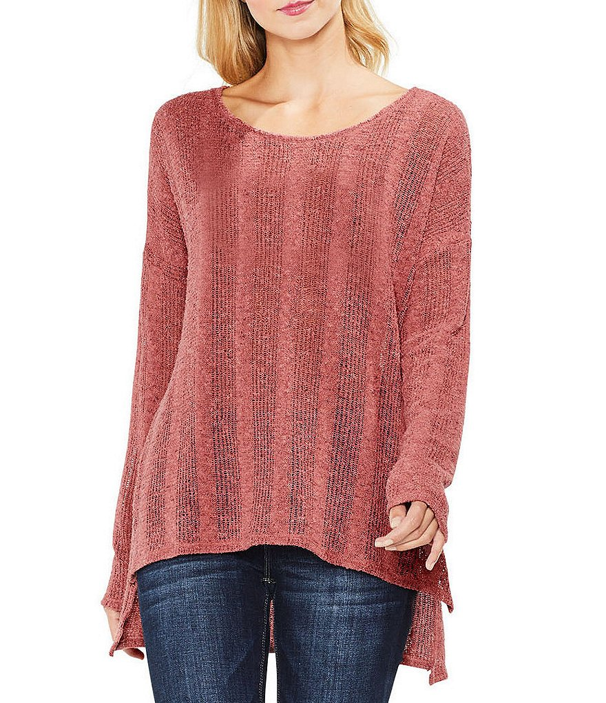 Two By Vince Camuto Open Stitch Top