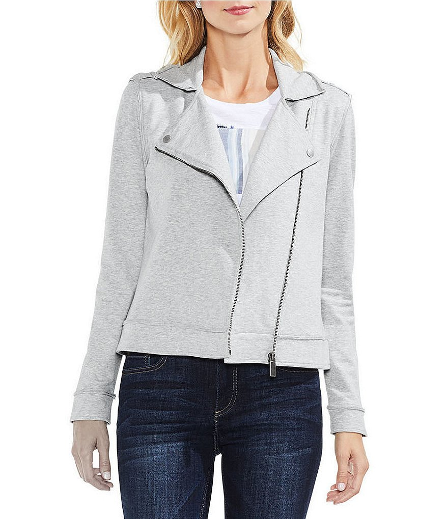 Two by Vince Camuto Peached French Terry Moto Jacket
