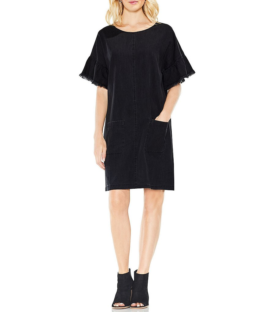 Two by Vince Camuto Short Sleeve Drop Shoulder Shift Dress