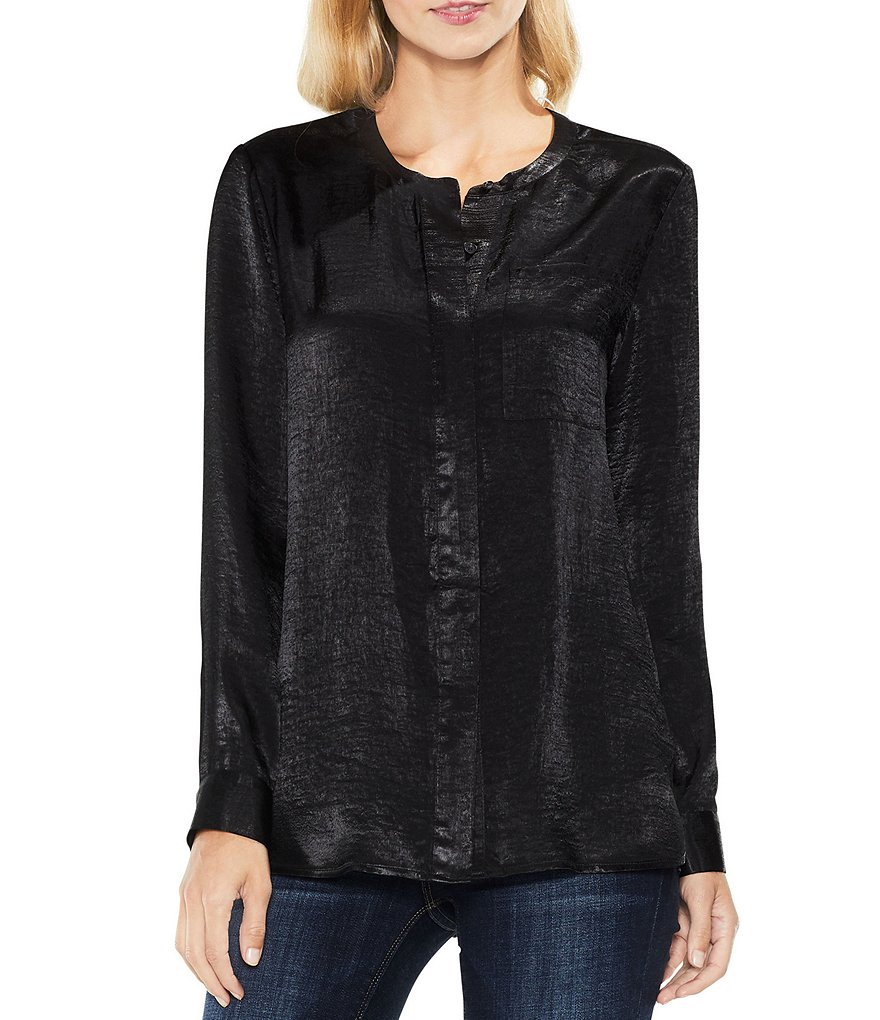 Two by Vince Camuto Satin Rumple Top