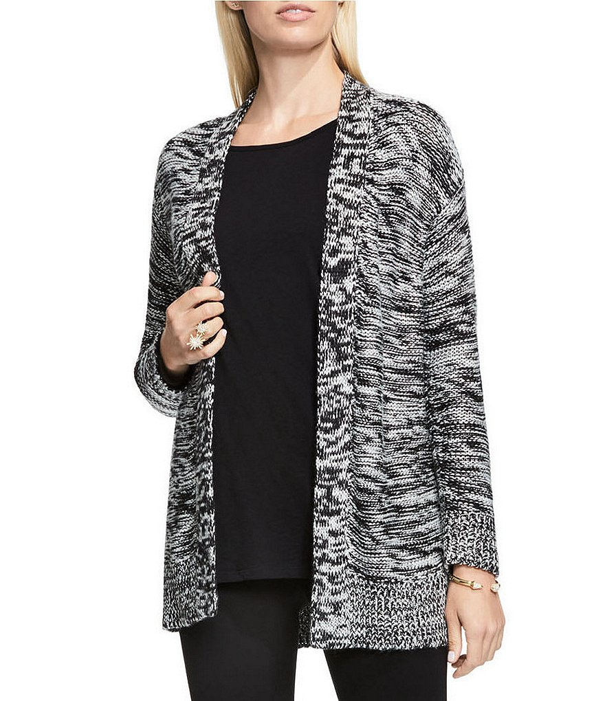 Two By Vince Camuto Side Slit Marled Cocoon Cardigan