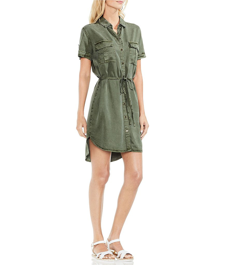 Two by Vince Camuto Tie Waist Shirt Dress