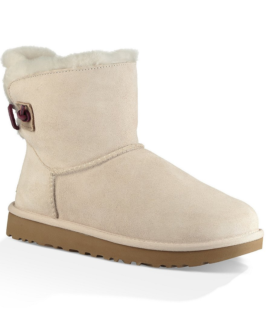 UGG� Adoria Tehuano Suede Perforated \u0026 Woven Leather Back Booties